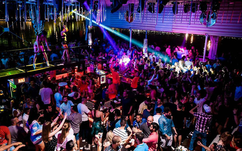 "Belgrade floating river club ""splav"""