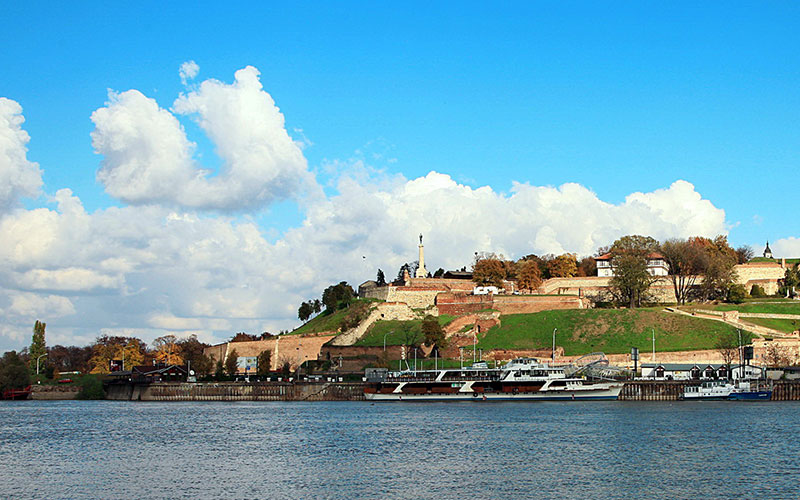 View on Belgrade fortress from rivers