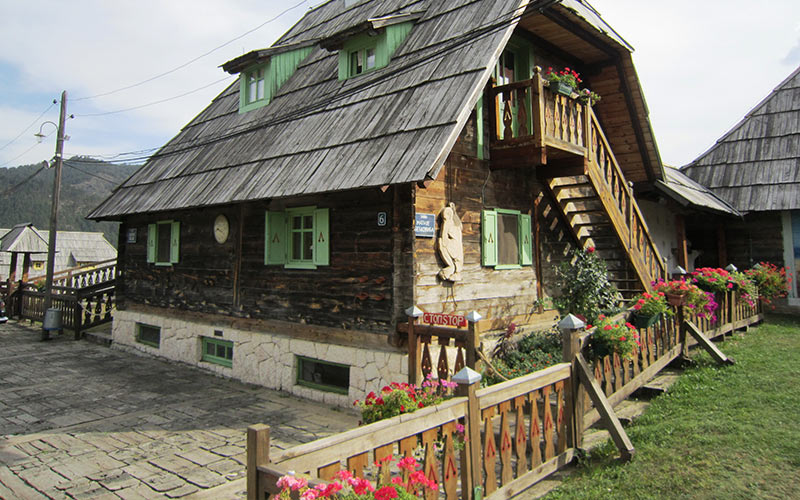 Drvengrad - traditional wooden house