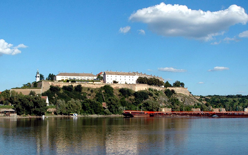 Petrovaradin fortress in Novi Sad from Danube